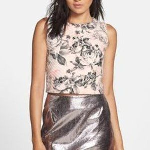 Free Generation Floral print quilted crop shell